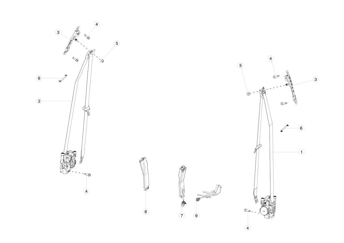 Подушка безопасности Tesla model X 1036760-00-H