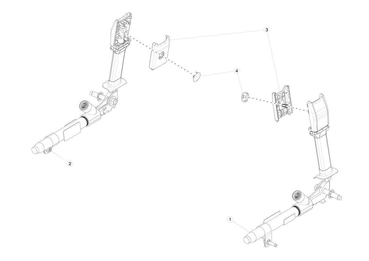 Подушка безопасности Tesla model X 1036759-00-F