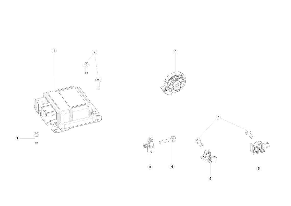 Подушка безопасности Tesla  1036748-00-D