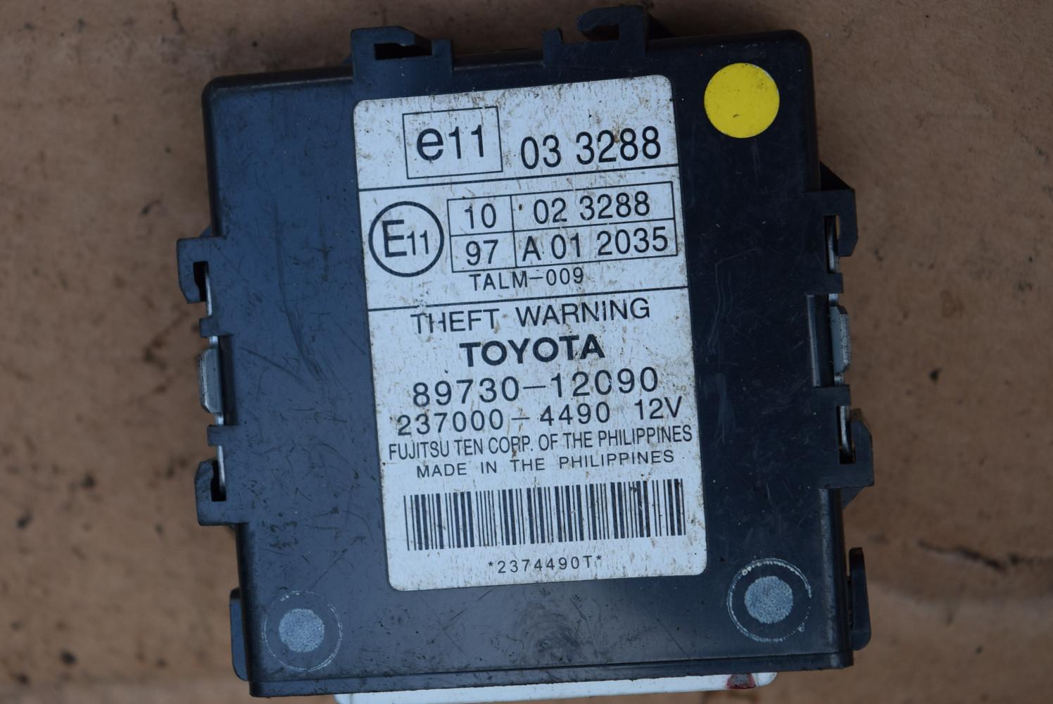 Блок управления сигнализацией Toyota Auris 1 8973012090,2370004490